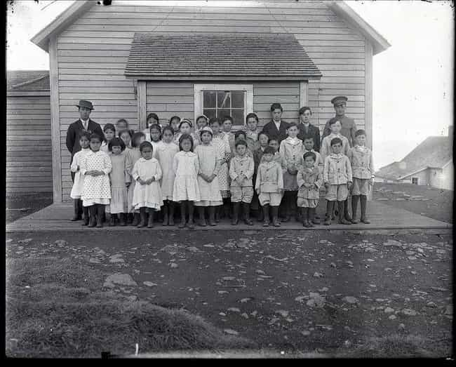 The Students And Teachers Of S... is listed (or ranked) 3 on the list 21 Haunting And Beautiful Vintage Photos Of The Alaskan Frontier