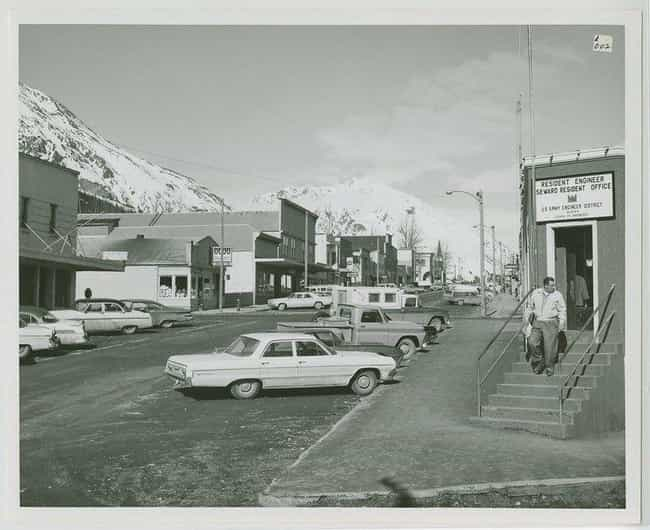 Street View Of The Town Of Sew... is listed (or ranked) 4 on the list 21 Haunting And Beautiful Vintage Photos Of The Alaskan Frontier