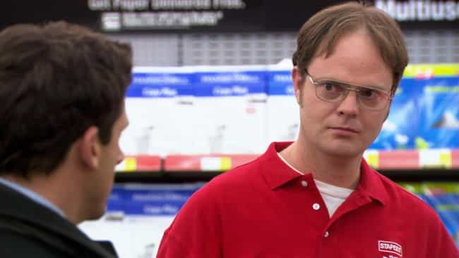 Dwight Temporarily Leaves Dund... is listed (or ranked) 3 on the list Dwight Schrute's Most Important Moments On 'The Office'