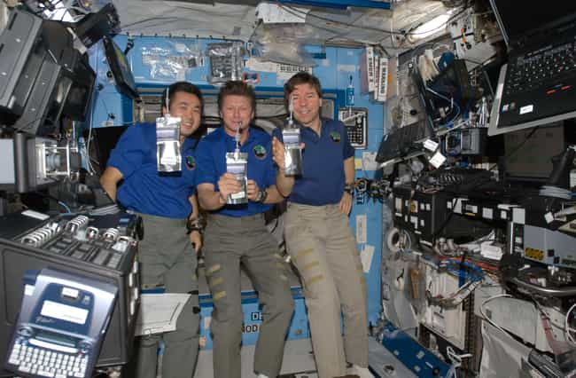 The American Crew Drinks... is listed (or ranked) 1 on the list What It's Like To Live And Work On The International Space Station