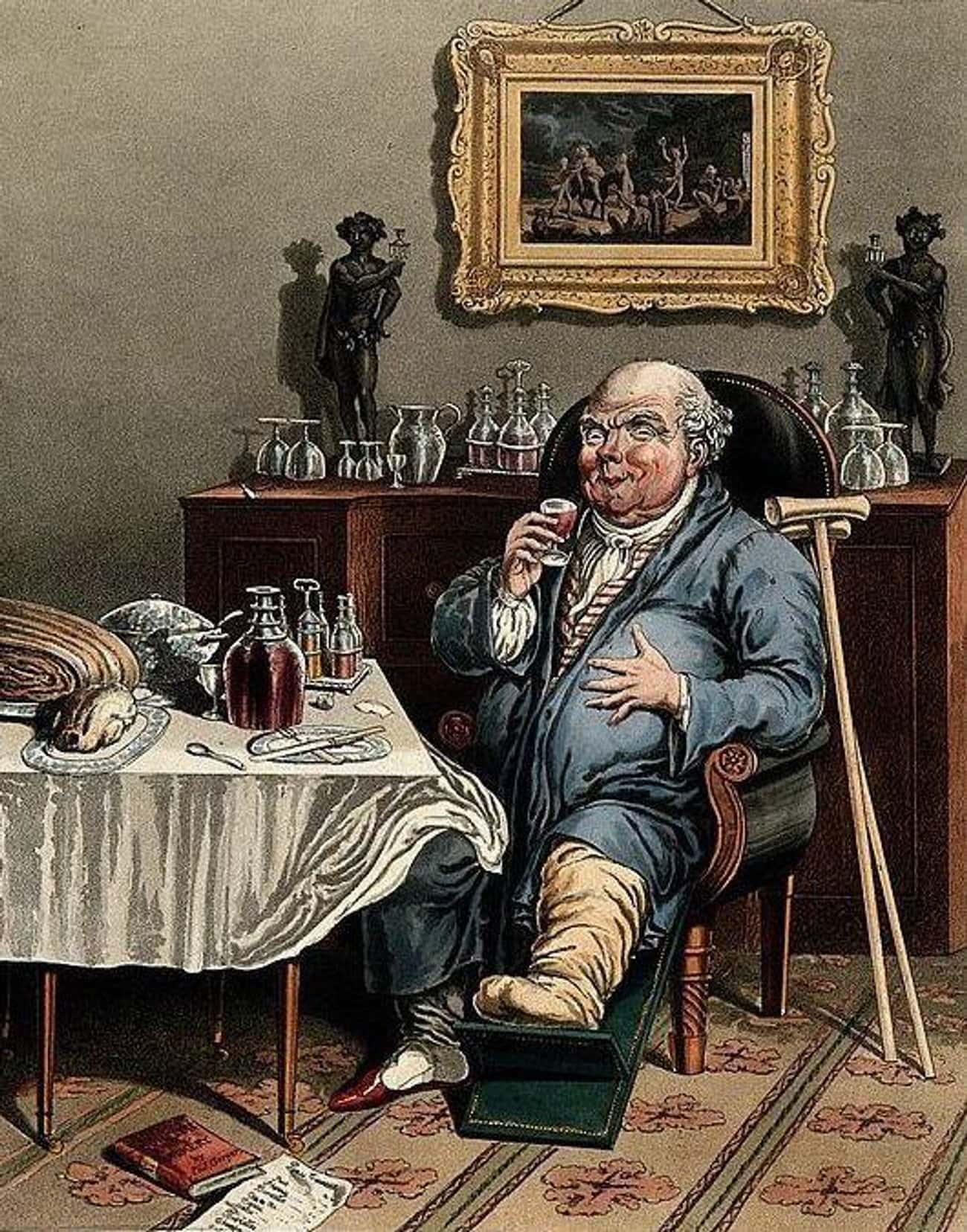 The Methuen Treaty Gave Gout A is listed (or ranked) 3 on the list Why Was There A Gout Epidemic In 18th-Century Britain?