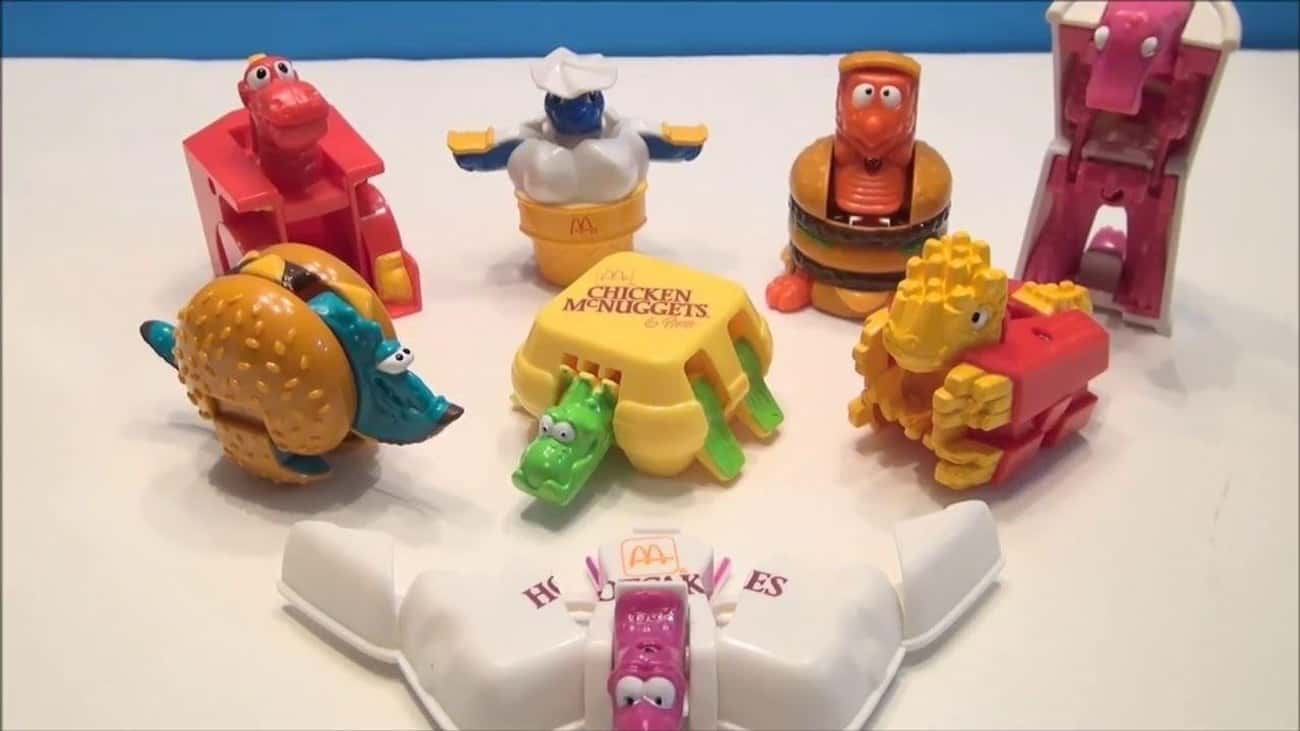 McDino Changeables is listed (or ranked) 3 on the list 26 McDonald's Happy Meal Toys From the '90s You Completely Forgot About Until Now