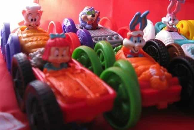 Tiny Toons Flip Cars is listed (or ranked) 2 on the list 26 McDonald's Happy Meal Toys From the '90s You Completely Forgot About Until Now