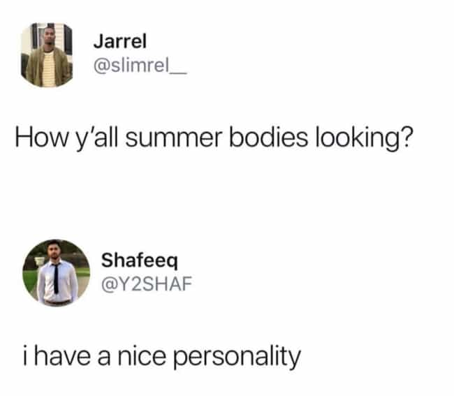 Summer Personality is listed (or ranked) 4 on the list 25 Times People Savagely Roasted Themselves