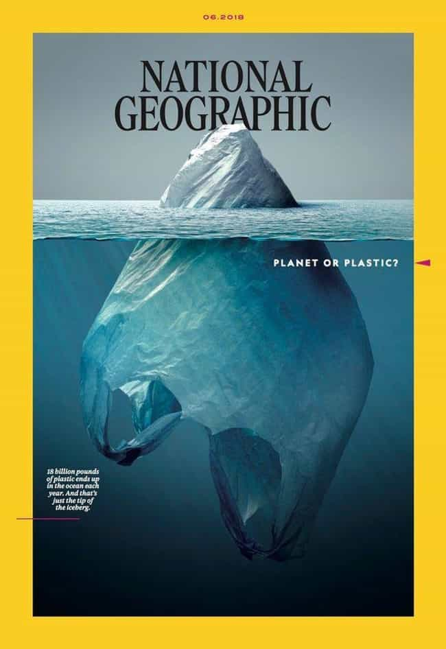 This National Geographic Cover is listed (or ranked) 2 on the list 21 Brilliant Ad Designs That Cleverly Make Their Point