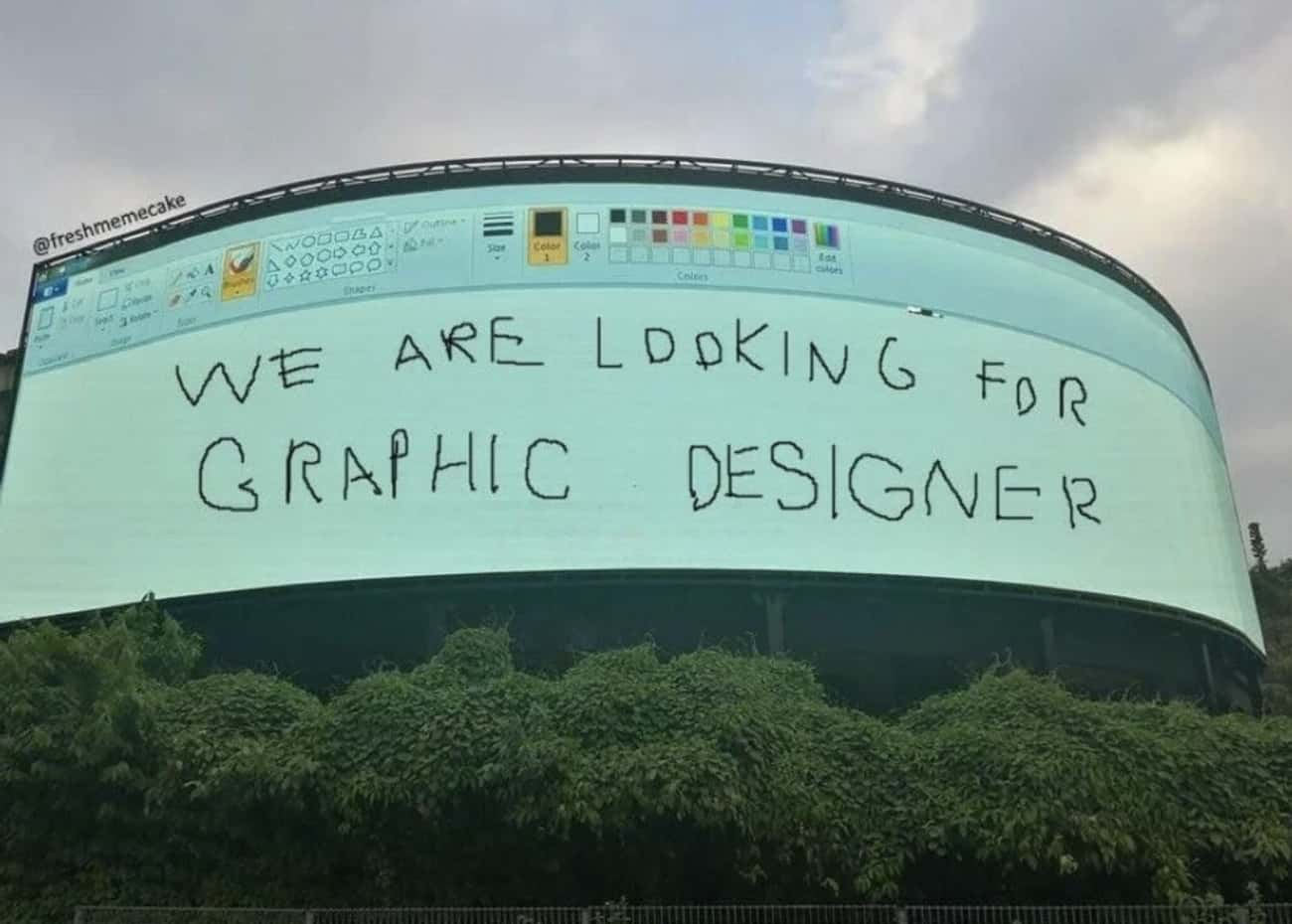 This Hiring Ad is listed (or ranked) 3 on the list 21 Brilliant Ad Designs That Cleverly Make Their Point