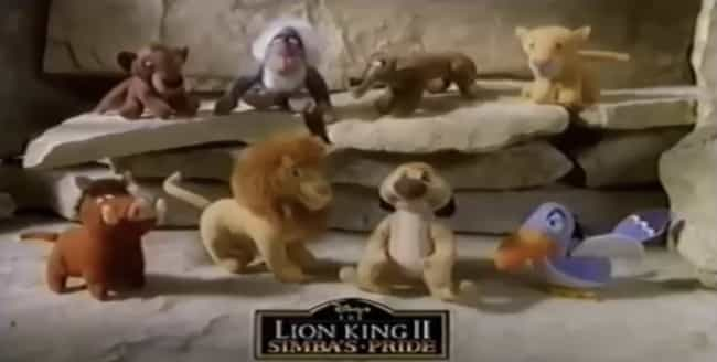 'Lion King II' Plushies is listed (or ranked) 4 on the list 26 McDonald's Happy Meal Toys From the '90s You Completely Forgot About Until Now