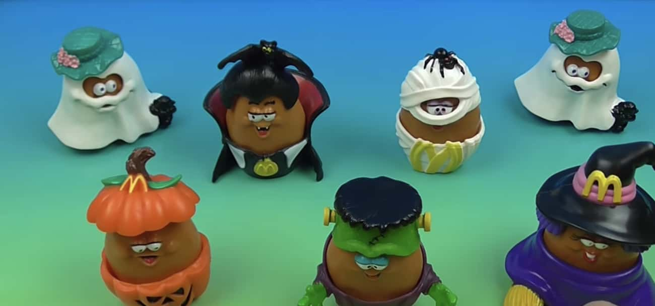 Halloween McNugget Buddies is listed (or ranked) 2 on the list 26 McDonald's Happy Meal Toys From the '90s You Completely Forgot About Until Now