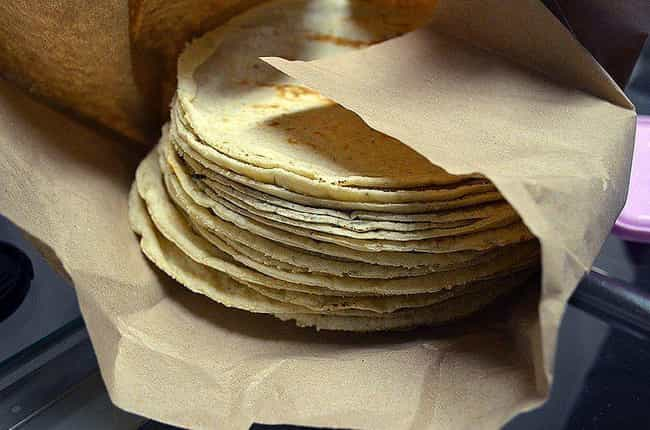 Tortillas is listed (or ranked) 2 on the list What Aztecs Were Eating Before European Contact