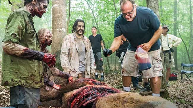 The Team Covered One Actor's F... is listed (or ranked) 1 on the list Special Effects Secrets From Behind The Scenes Of 'The Walking Dead'
