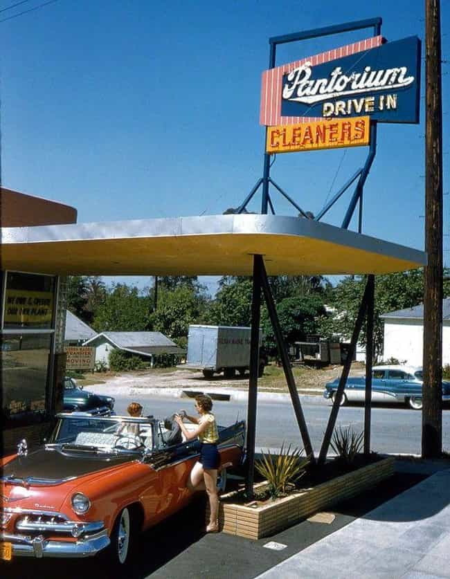 Getting The Dry Cleaning At A ... is listed (or ranked) 1 on the list Photos Of How Drive-Throughs Have Changed Over The Years