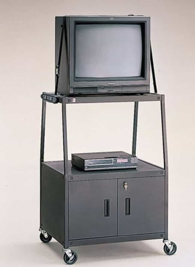 CRT TVs On A Cart is listed (or ranked) 2 on the list 25 Pictures From The '90s That Will Take You Straight Back To Grade School