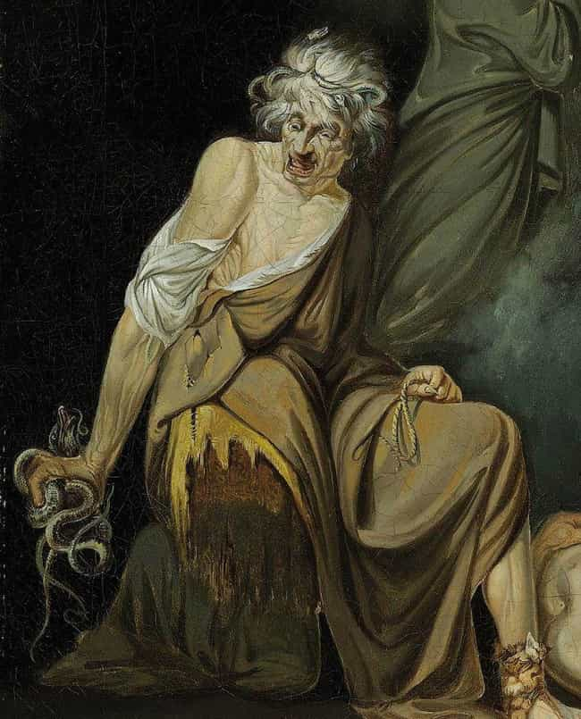'The Witch Erichtho' - John Ha... is listed (or ranked) 1 on the list 20 Haunting Portrayals Of Witches In Art