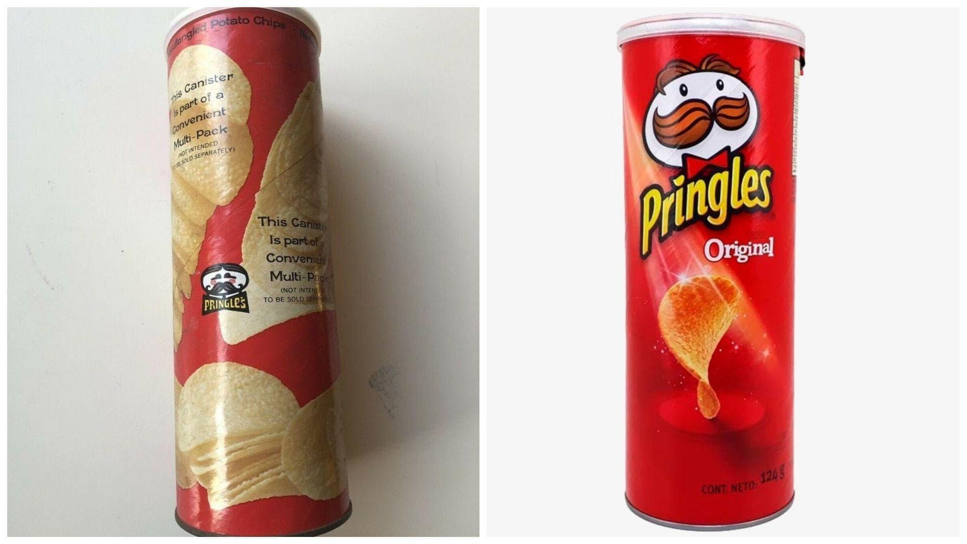 Pringles, 1970s Vs. 2019 on Random Potato Chip Bags Have Changed Over Tim