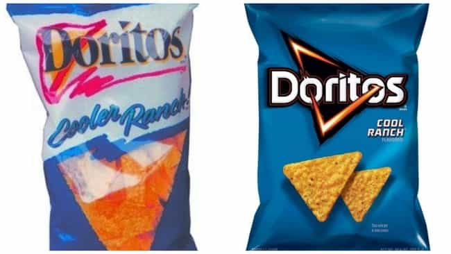 Cool Ranch Doritos, C. 1990s V... is listed (or ranked) 1 on the list How Potato Chip Bags Have Changed Over Time