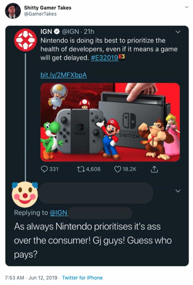 Work-Life Balance Doesn't Exis... is listed (or ranked) 4 on the list 21 Bad Gamer Takes That Will Make You Say