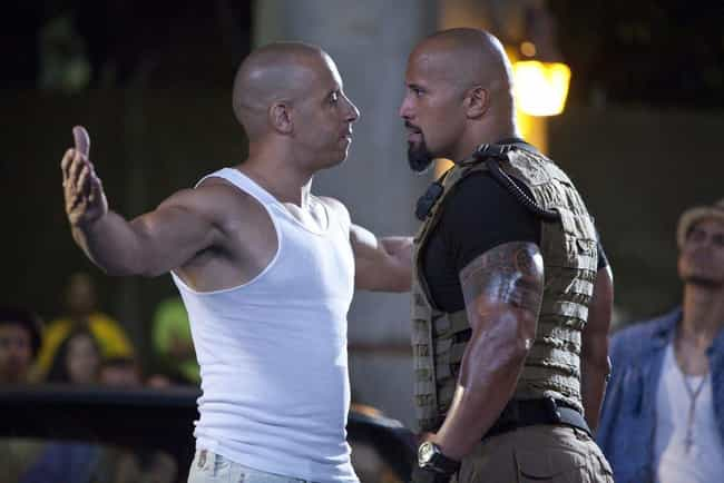 In Vin Diesel's House, 'The Ro... is listed (or ranked) 2 on the list Movie Enemies Who Are Good Pals In Real Life