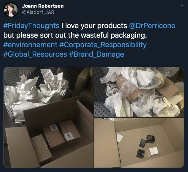 Wasteful is listed (or ranked) 12 on the list 26 Times Unnecessary Packaging Deserved To Be Shamed