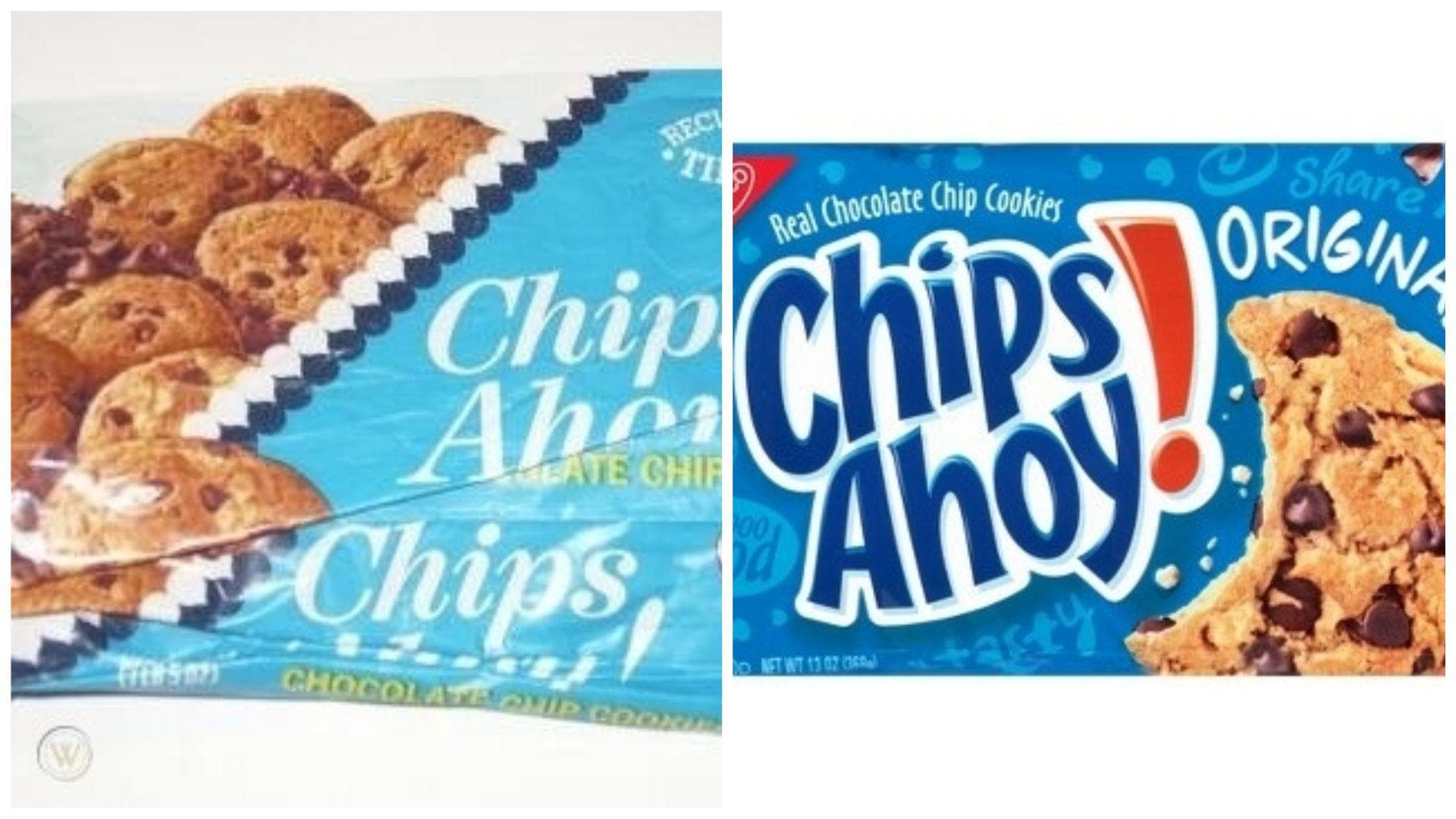 Chips Ahoy!, 1973 Vs. 2019 on Random Changed Over Time of Cookie Boxes