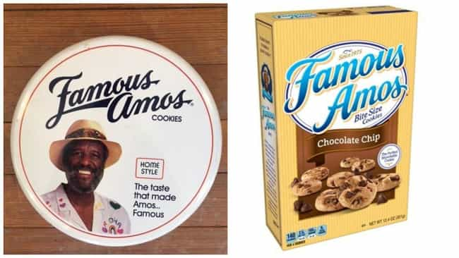 Famous Amos, 1975 Vs. 2019 is listed (or ranked) 4 on the list How Cookie Boxes Have Changed Over Time