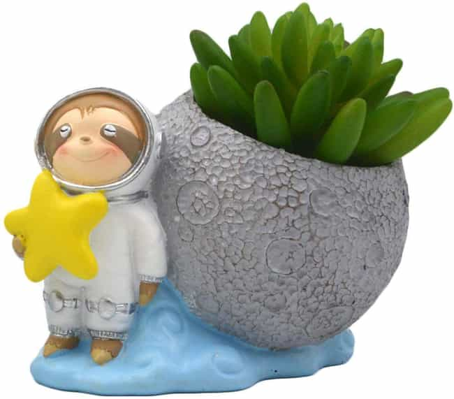 Astronaut Sloth Planter is listed (or ranked) 4 on the list 25 Stellar Gifts For Space And Astronomy Nerds