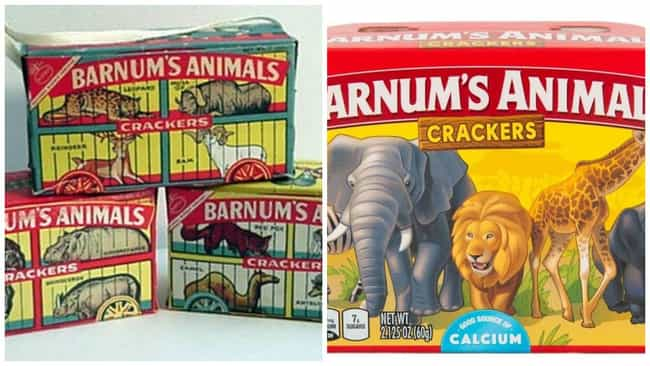 Barnum's Animal Crackers, C. 1... is listed (or ranked) 1 on the list How Cookie Boxes Have Changed Over Time