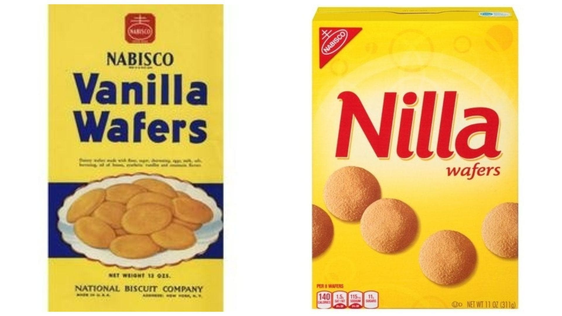 Nilla Wafers, 1967 Vs. 2019 on Random Changed Over Time of Cookie Boxes