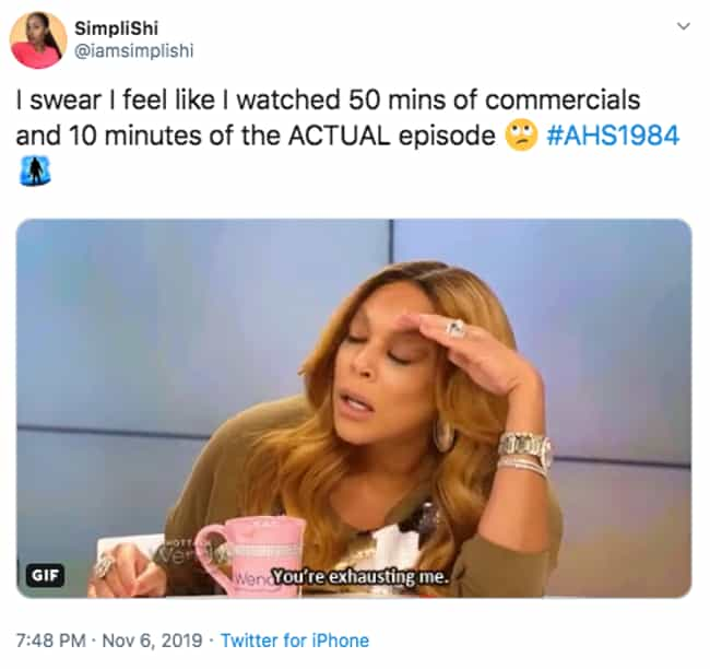 Why So Short? is listed (or ranked) 2 on the list The 20 Best Twitter Reactions To Episode 8 Of 'American Horror Story: 1984'
