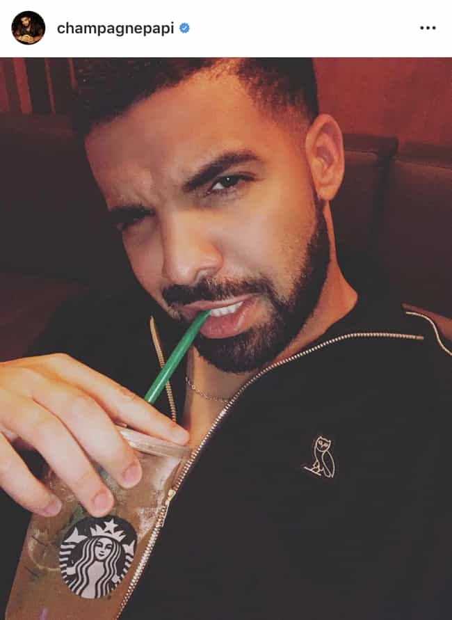 Just Got Back From Starbucks is listed (or ranked) 4 on the list Drake Selfies, Ranked By How Sad They Make You
