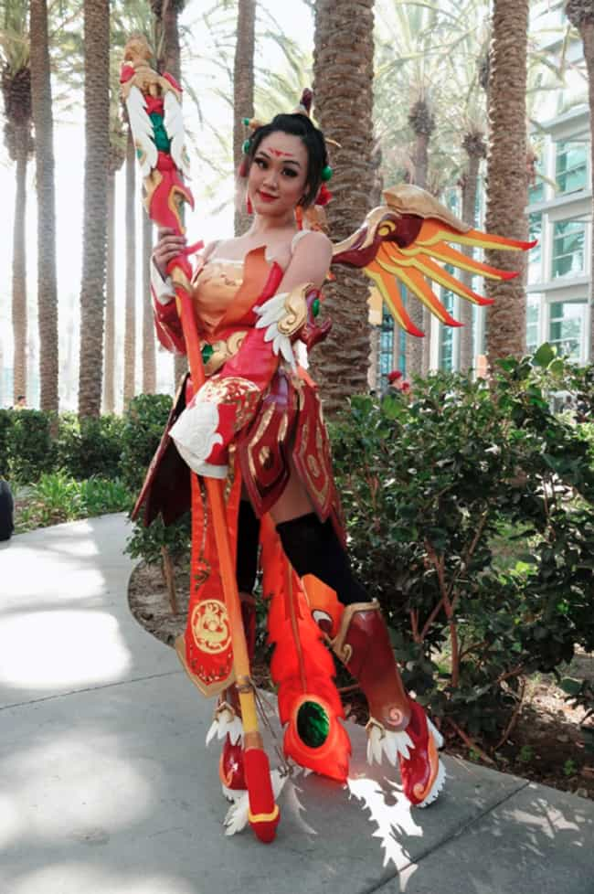 Mercy - Red Phoenix Outfit (Ov... is listed (or ranked) 4 on the list The Best Cosplay At Blizzcon 2019