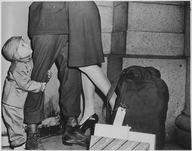 A Child Welcoming His Father H... is listed (or ranked) 4 on the list 20 Photographs From History Guaranteed To Make You Smile