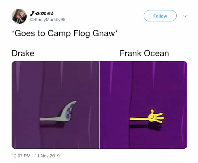 Drake Got The Squidward Treatm... is listed (or ranked) 2 on the list Drake Got Booed Off The Stage At Camp Flog Gnaw 2019 And The Internet Is Having A Meltdown