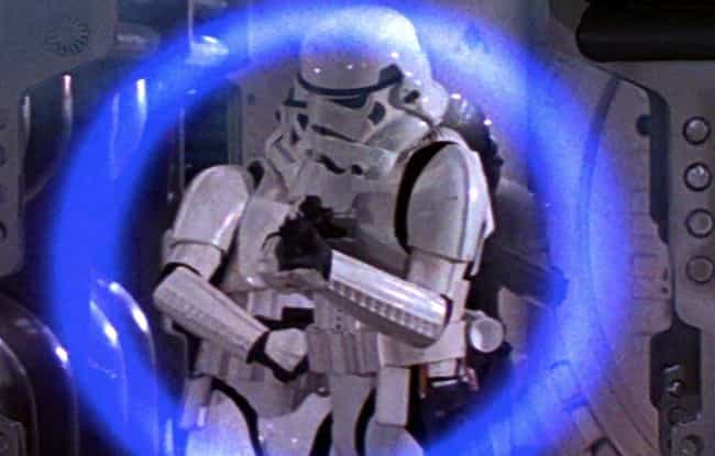 A Stormtrooper Stuns Leia In '... is listed (or ranked) 3 on the list All The Times Stormtroopers Actually Hit What They Were Aiming At In 'Star Wars'
