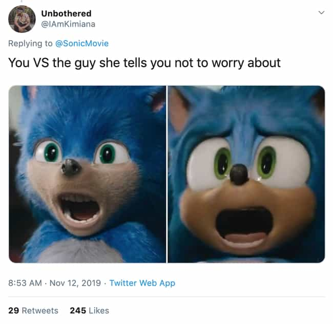 I Have Some Bad News For You B... is listed (or ranked) 3 on the list The 19 Funniest Twitter Reactions To Sonic's Much Needed Redesign