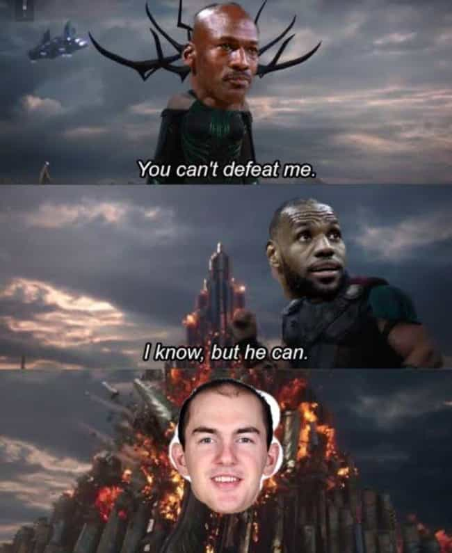 LeBron Finds A Cheat Code is listed (or ranked) 1 on the list The Funniest Memes From The 2019-20 NBA Season