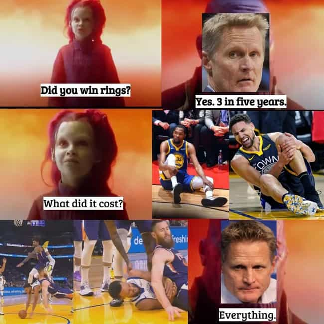 Kerr Would Do It Again ... is listed (or ranked) 3 on the list The Funniest Memes From The 2019-20 NBA Season