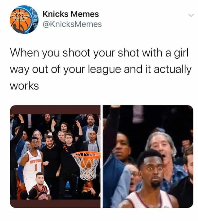 Even The Knicks Players Are Sh... is listed (or ranked) 1 on the list New York Knicks Memes To Get Fans Through The 2019-20 Season