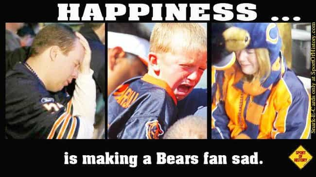 Sad Ol' Bears is listed (or ranked) 2 on the list Memes To Express Why Chicago Bears Fans Are The Worst