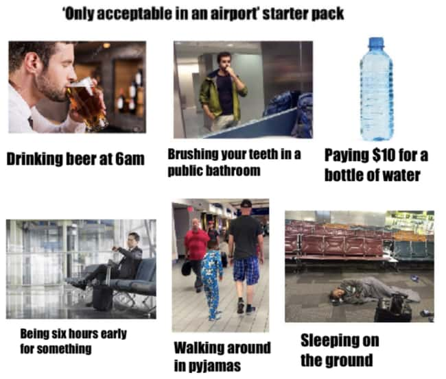 If You See Me At The Bar At 6a is listed (or ranked) 8 on the list 27 Spot On Starter Pack Memes That Perfectly Describe Someone You Know