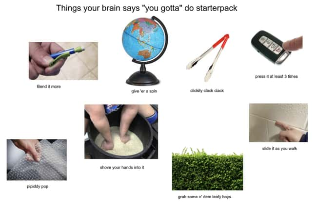 Must Clicky Clack Clack is listed (or ranked) 13 on the list 27 Spot On Starter Pack Memes That Perfectly Describe Someone You Know