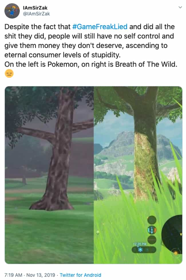 You Vs. The Guy She Told You N... is listed (or ranked) 4 on the list 19 Outraged Twitter Reactions To Game Freak Reusing In-Game Models