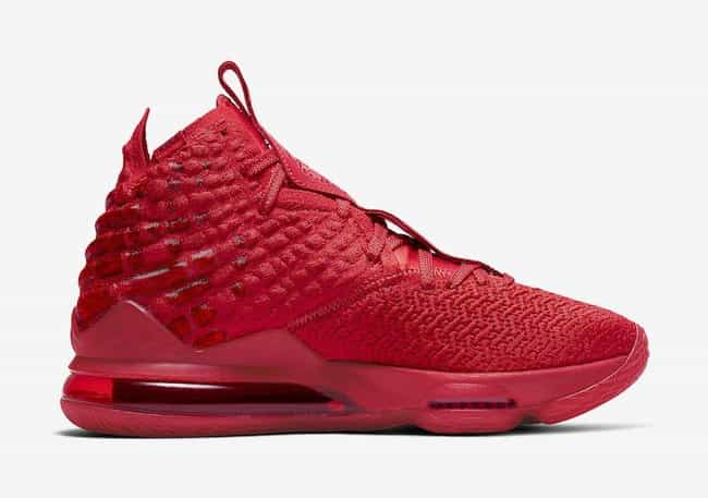 """Nike LeBron 17 """"Red Carpet"""" is listed (or ranked) 3 on the list The Best LeBron 17 Colorways, Ranked"""