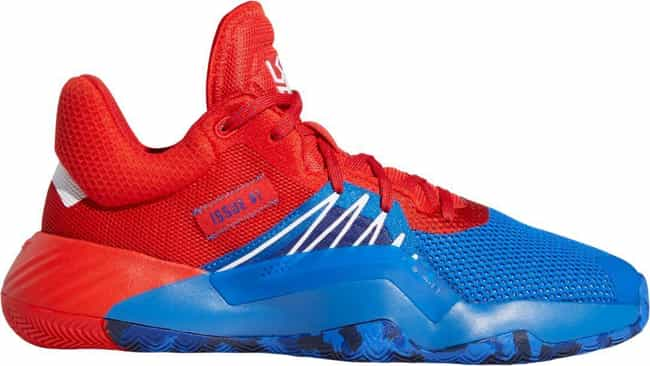 """Adidas D.O.N. Issue 1 """"Spider-... is listed (or ranked) 4 on the list The Best D.O.N. Issue #1 Colorways, Ranked"""