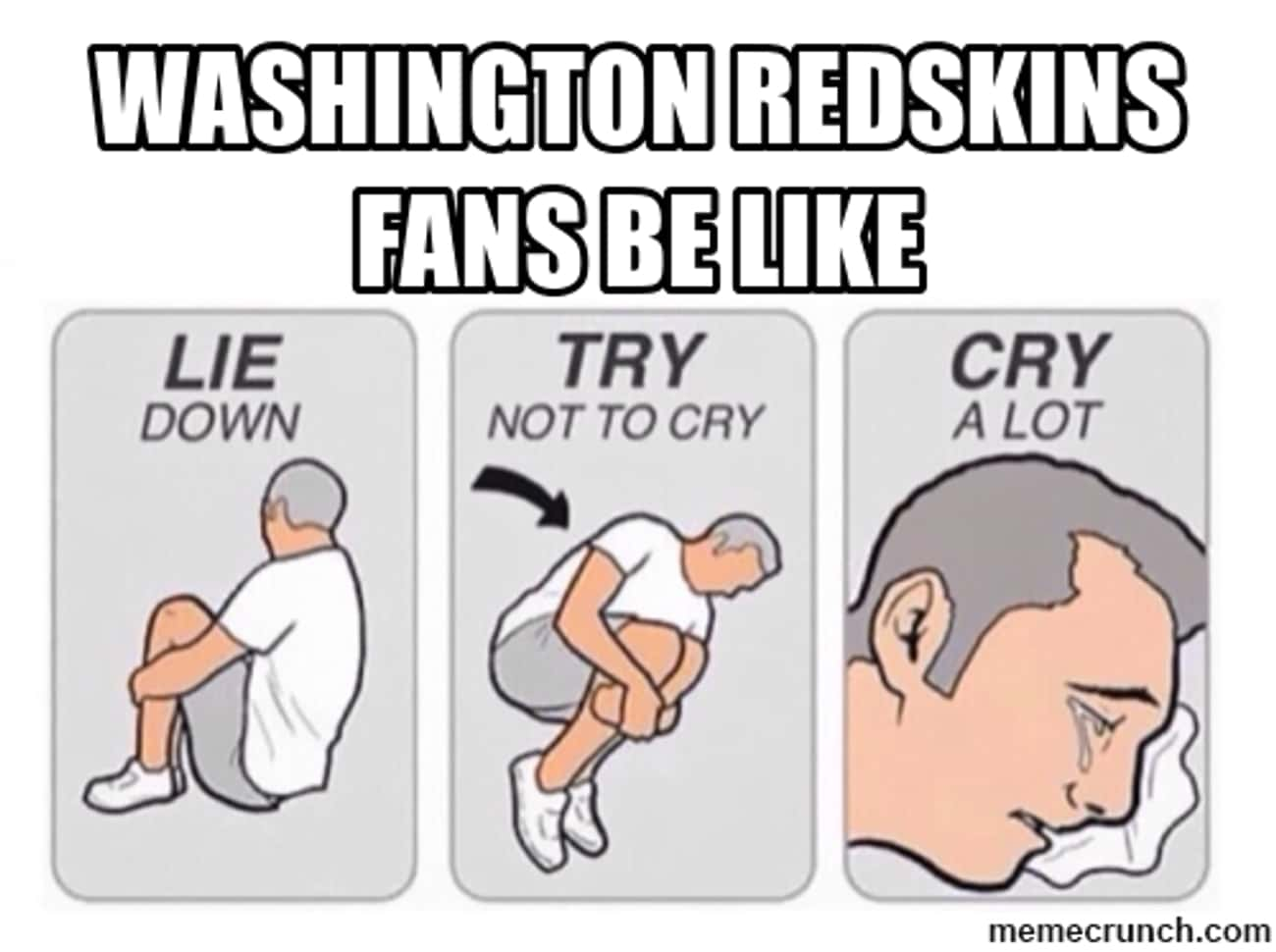 Let The Emotion Out is listed (or ranked) 3 on the list Memes To Express Why Washington Redskins Fans Are The Worst