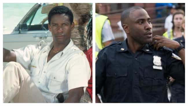 Denzel Washington And John Dav... is listed (or ranked) 4 on the list Photos Of Famous Fathers And Their Sons At The Same Age