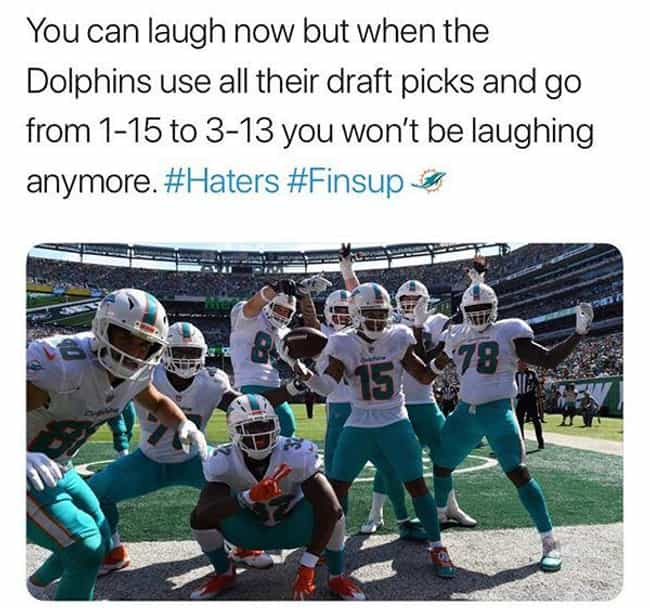 Improvement is Improvement! is listed (or ranked) 3 on the list Miami Dolphins Memes To Help Fans Get Through 2019