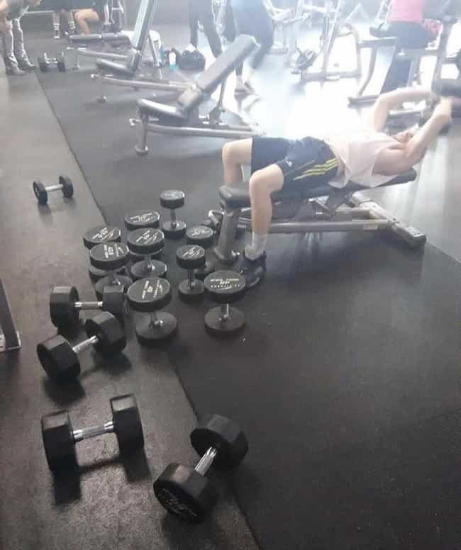 Rerack Your Weights Bro is listed (or ranked) 2 on the list 21 Pictures That Will Leave You Mildly Infuriated