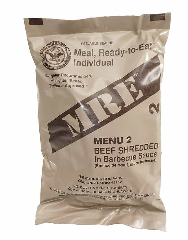 Shredded BBQ Beef is listed (or ranked) 3 on the list MREs That Taste Better (Or Worse) Than You Might Think