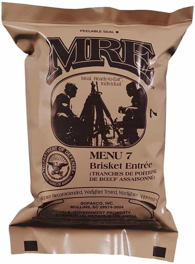 Beef Brisket is listed (or ranked) 4 on the list MREs That Taste Better (Or Worse) Than You Might Think
