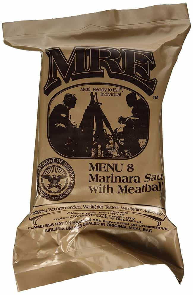 Meatballs With Marinara Sauce is listed (or ranked) 2 on the list MREs That Taste Better (Or Worse) Than You Might Think